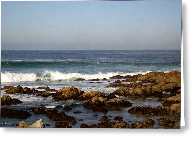 Pismo Beach Seascape Greeting Card by Barbara Snyder