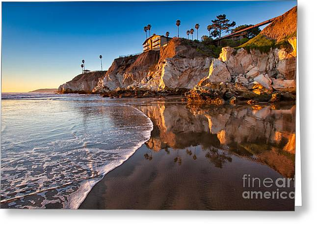 Pismo Cliffs And Reflections Greeting Card