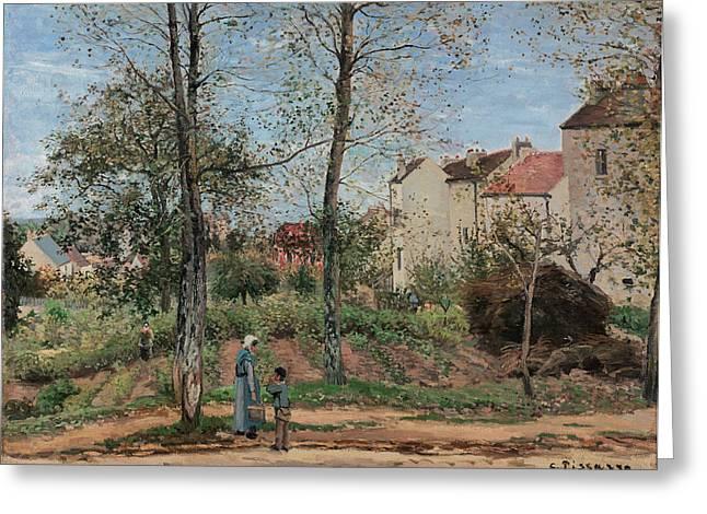 Pissarro Houses, 1870 Greeting Card
