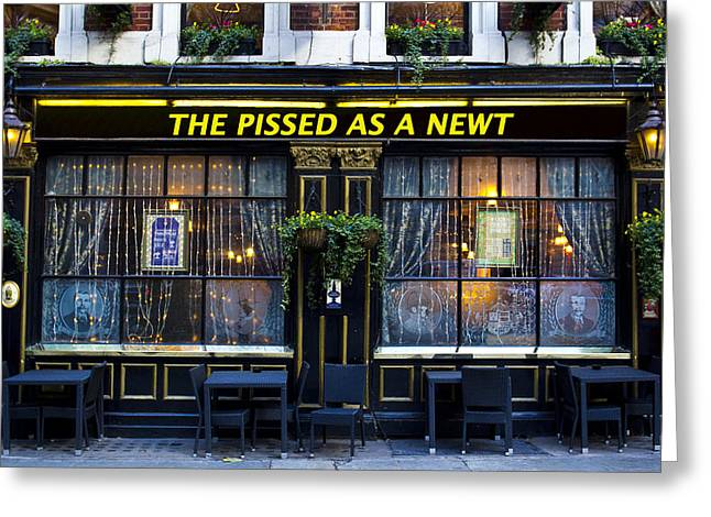 Pissed As A Newt Pub  Greeting Card