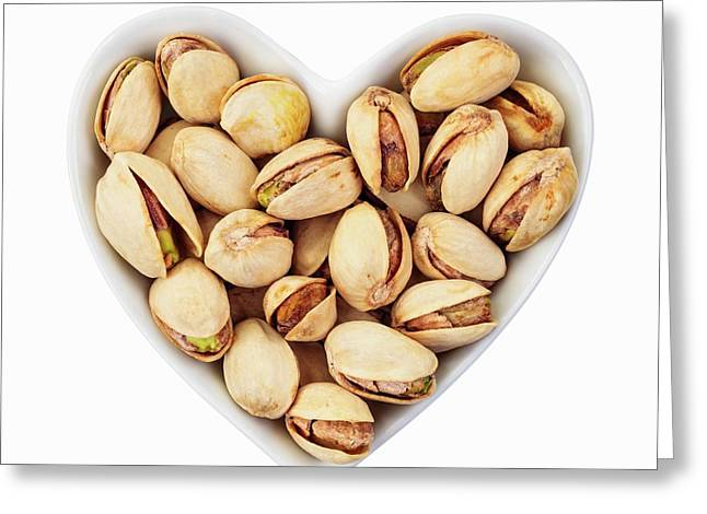 Pistachio Nuts Greeting Card by Geoff Kidd