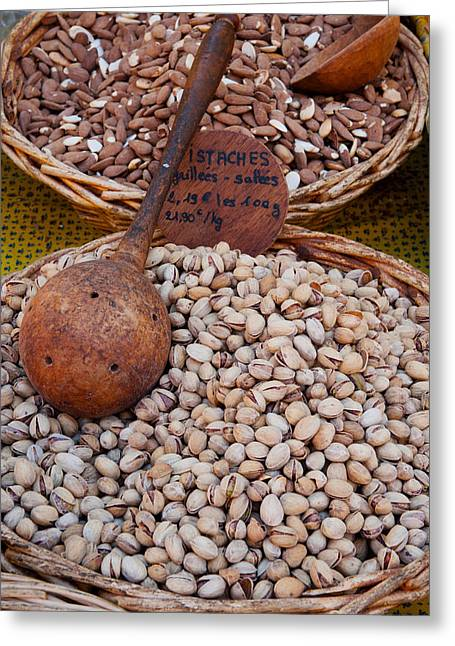 Pistachios For Sale At Weekly Market Greeting Card by Panoramic Images
