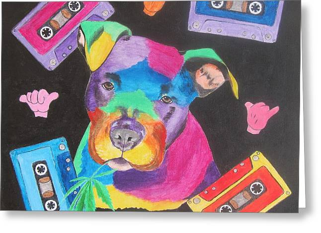 Pitbull Greeting Card by Jeepee Aero