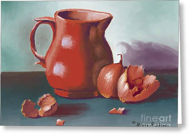 Pitcher And Onion Greeting Card