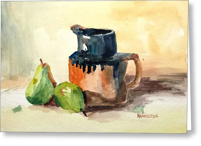 Pitcher And Pears Greeting Card