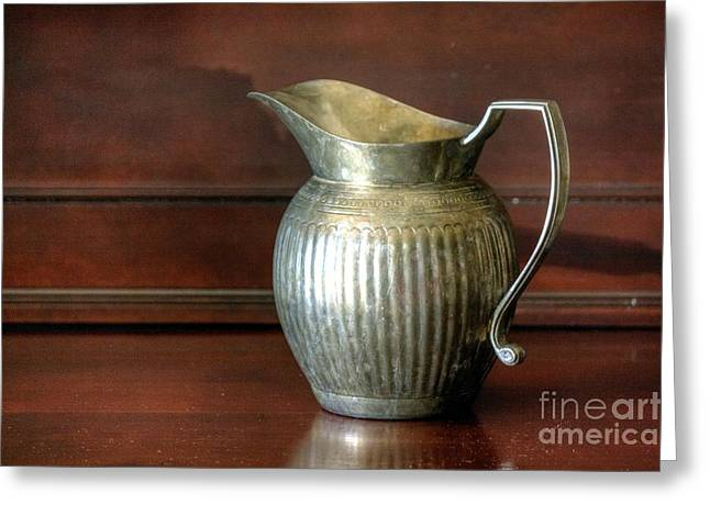 Pitcher Greeting Card by Chris Anderson