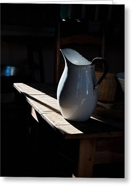Pitcher On Table Greeting Card