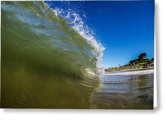 Pitching Wave Greeting Card by David Alexander
