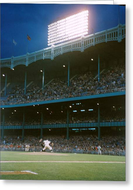 Old Yankee Stadium  Greeting Card by Retro Images Archive