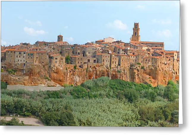 Pitigliano Panorama Greeting Card