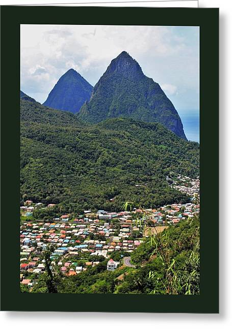 Pitons Greeting Card