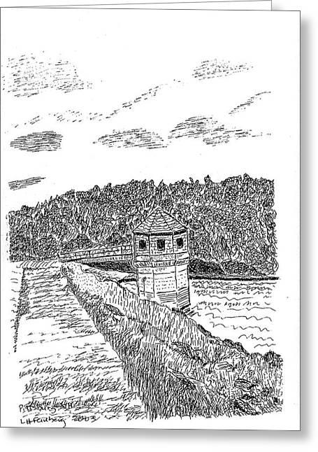 Pittsburg Dam Greeting Card