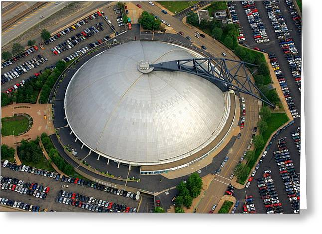 Pittsburgh Civic Arena  Greeting Card by Mattucci Photography