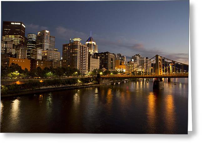 Pittsburgh From The 9th Street Bridge Greeting Card by Mark Milar