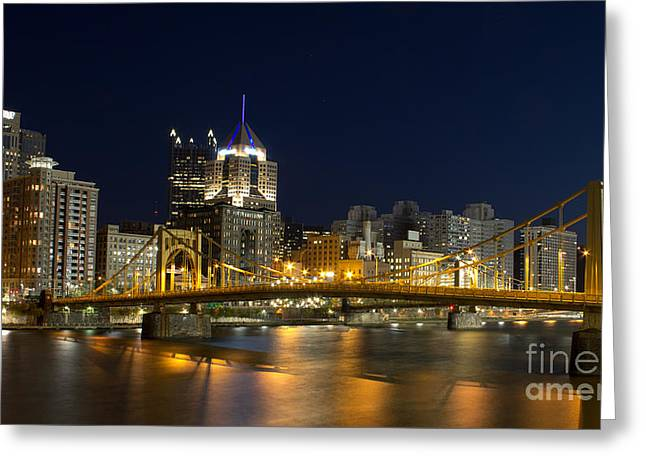 Pittsburgh Lights Greeting Card by Mike Vosburg