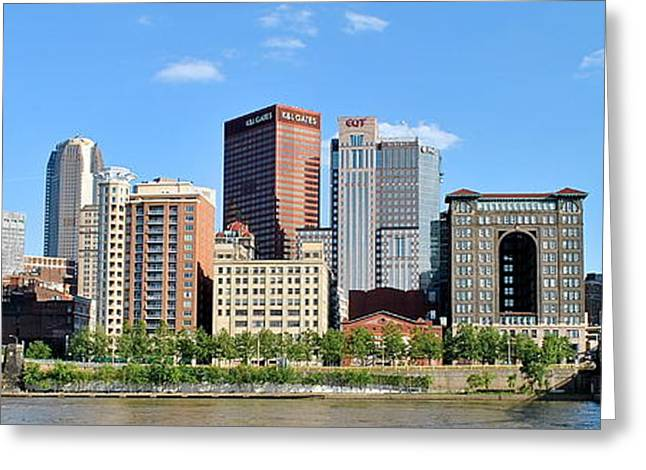 Pittsburgh Panoramic Greeting Card by Frozen in Time Fine Art Photography