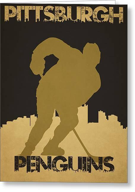 Pittsburgh Penguin Greeting Card by Joe Hamilton