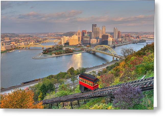Pittsburgh  Greeting Card by Shane Mossman