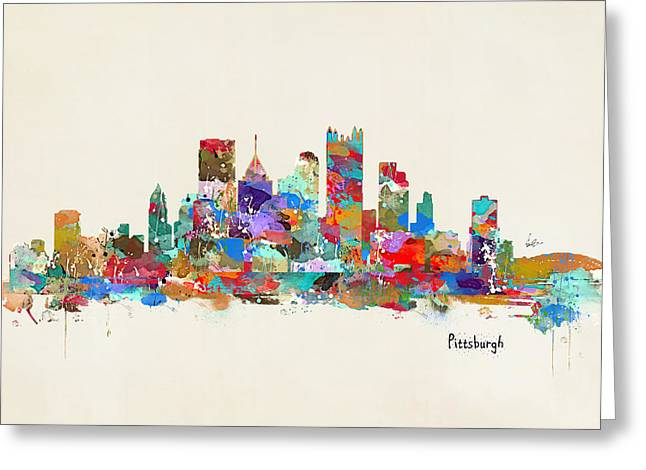 Pittsburgh Skyline Pennsylvania Greeting Card