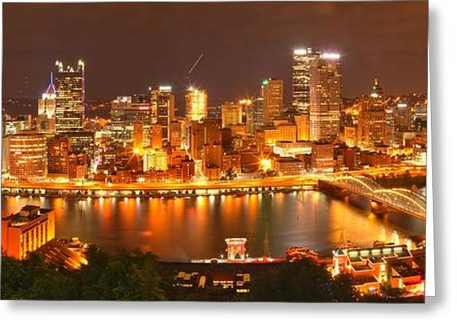 Pittsburgh Smile Greeting Card by Adam Jewell