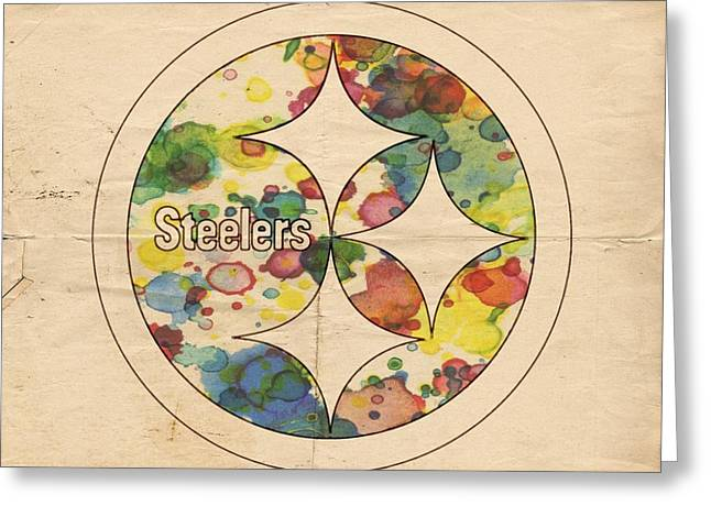 Pittsburgh Steelers Poster Art Greeting Card by Florian Rodarte