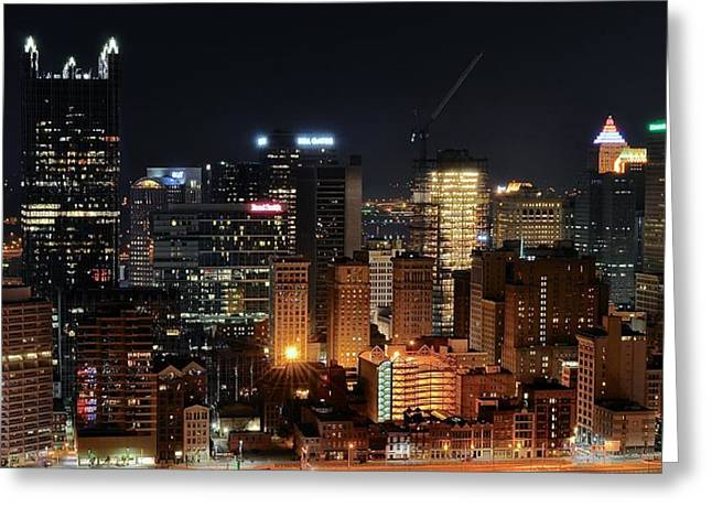 Pittsburgh Up Close II Greeting Card by Frozen in Time Fine Art Photography