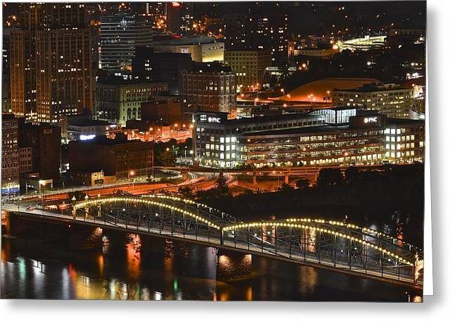 Pittsburgh Up Close Greeting Card by Frozen in Time Fine Art Photography