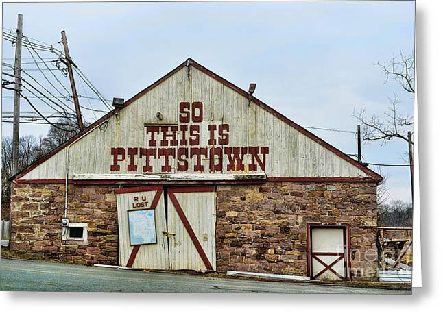 Pittstown - R U Lost Greeting Card by Paul Ward