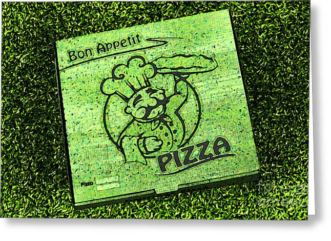 Pizza Al Fresco Greeting Card