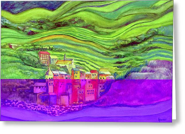 Pizza In Vernazza Greeting Card