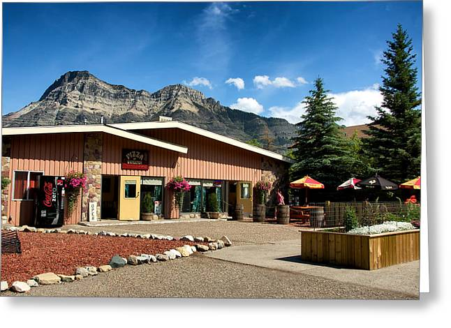 Pizza Of Waterton Greeting Card by Trever Miller