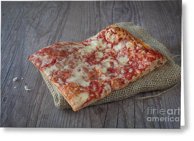 Pizza Slice Greeting Card by Sabino Parente