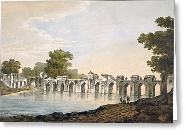 Pl. 34 A View Of The Bridge Greeting Card