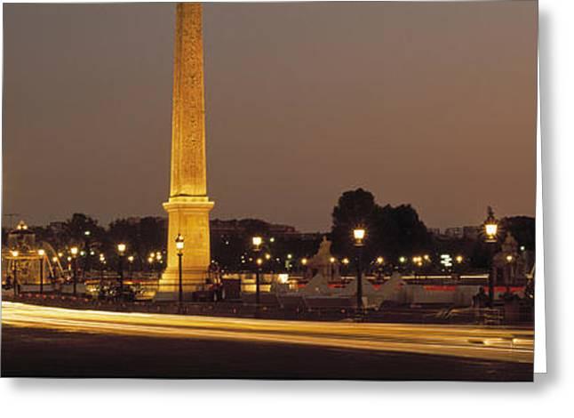 Place De La Concorde Paris France Greeting Card