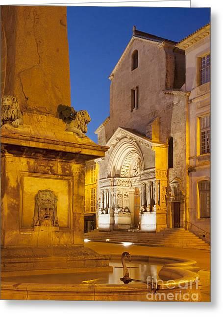 Place De La Republique Greeting Card by Brian Jannsen