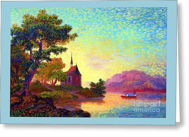 Greeting Card featuring the painting Beautiful Church, Place Of Welcome by Jane Small
