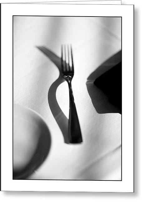 Place Setting Simplicity Greeting Card by Don Powers