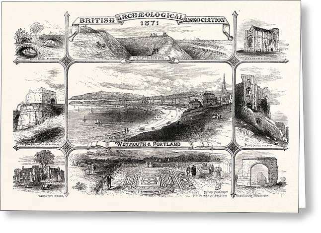 Places Visited By The British Archeological Association Greeting Card by English School