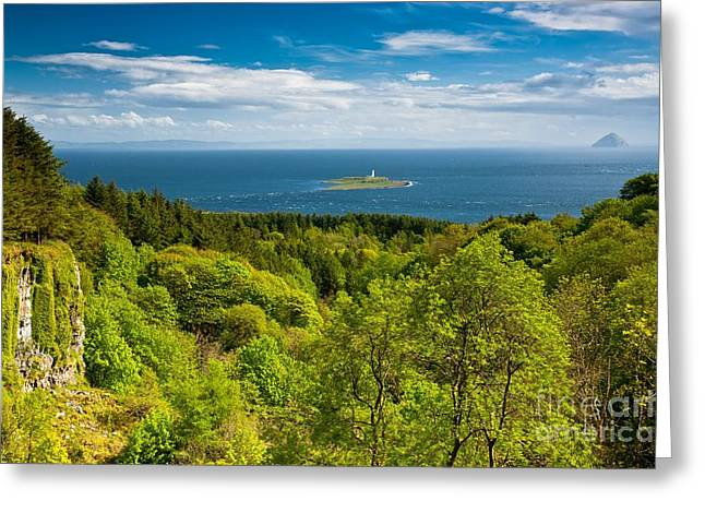 Pladda Lighthouse  From Arran Greeting Card