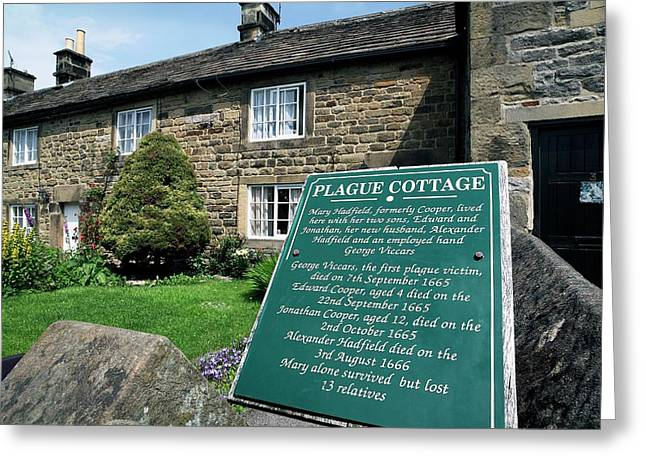 Plague Cottage Greeting Card by Martin Bond