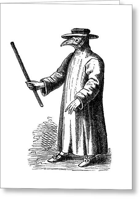 Plague Doctor Greeting Card by Bildagentur-online/tschanz