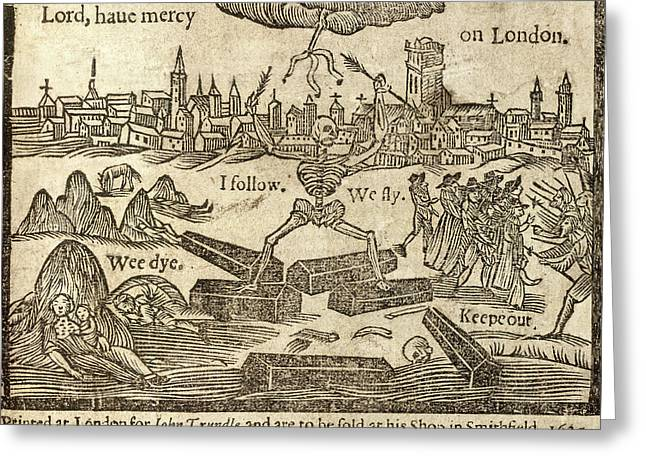 Plague In London Greeting Card by British Library