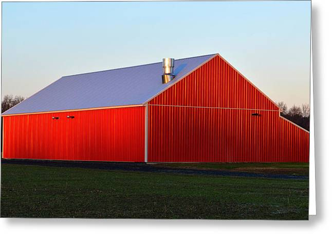 Greeting Card featuring the photograph Plain Jane Red Barn by Bill Swartwout