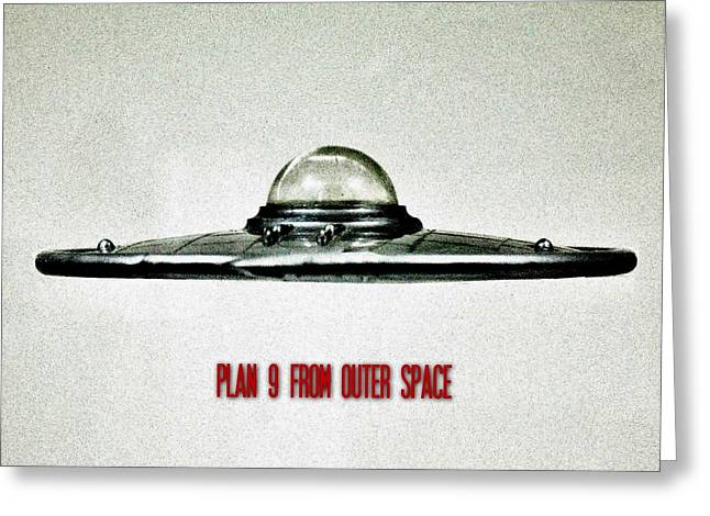 Plan 9 From Outer Space Greeting Card by Benjamin Yeager