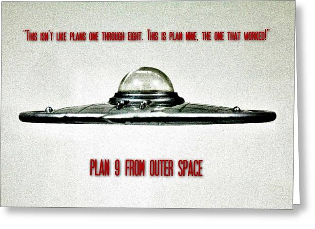 Plan 9 Seinfeld Greeting Card by Benjamin Yeager