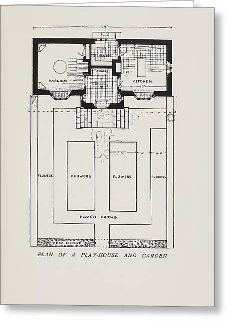 Plan Of A Play-house Greeting Card by British Library