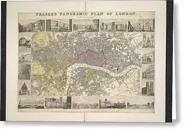 Plan Of London Greeting Card