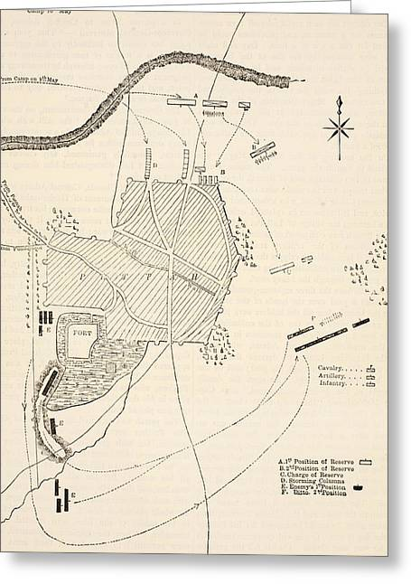 Plan Of The Attack On Sholapore Greeting Card