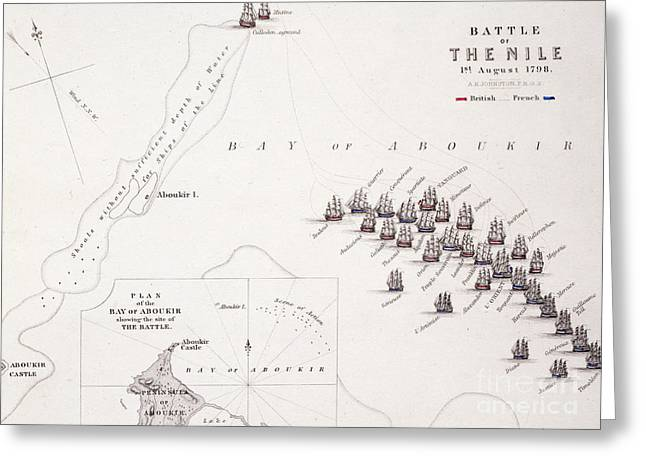 Plan Of The Battle Of The Nile Greeting Card