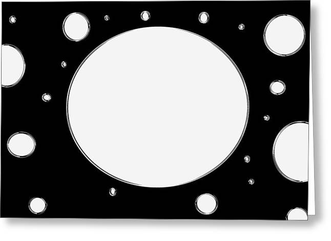 Planck Constant Holes  Greeting Card
